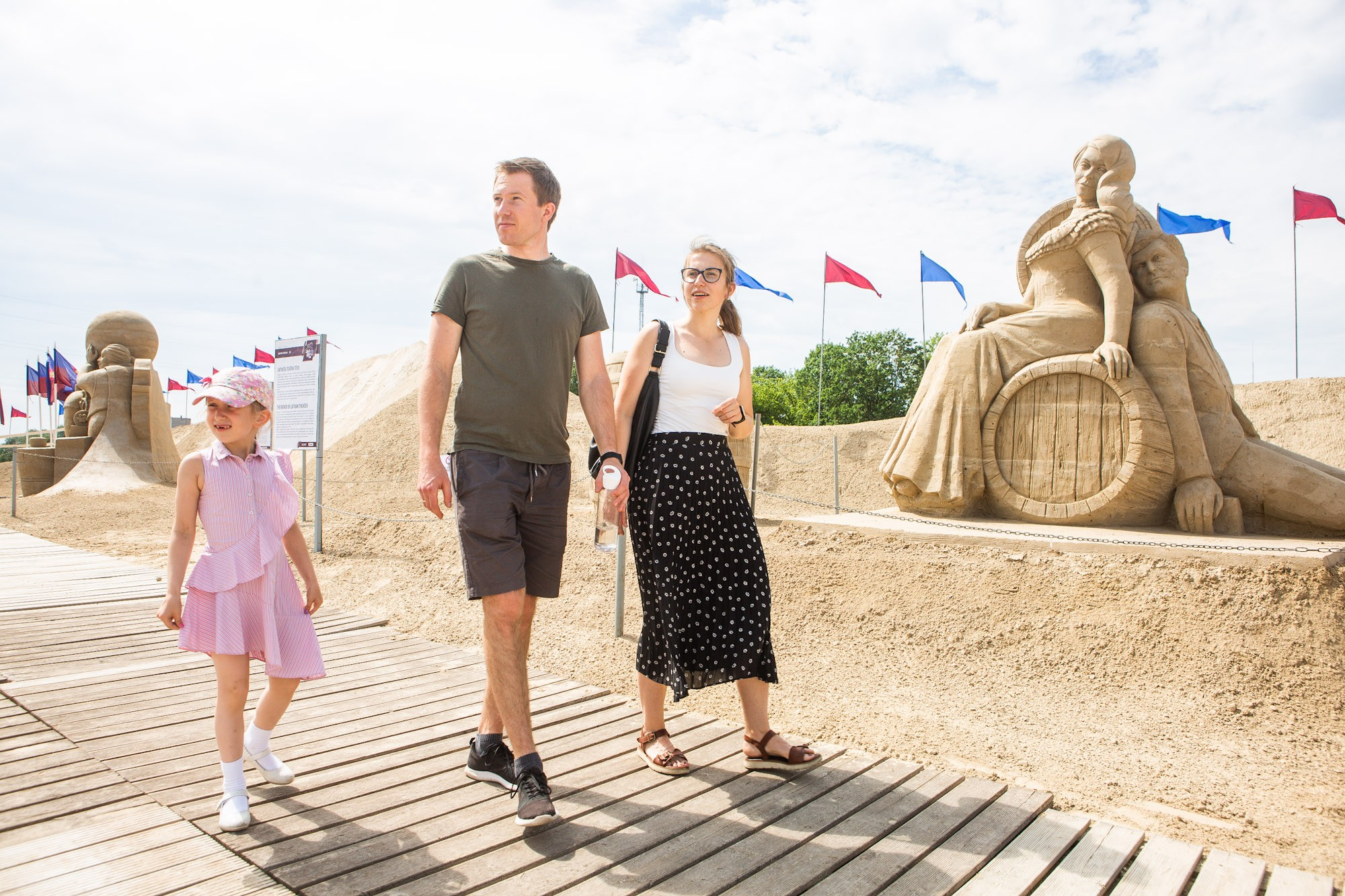 Sand sculpture park is open to visitors