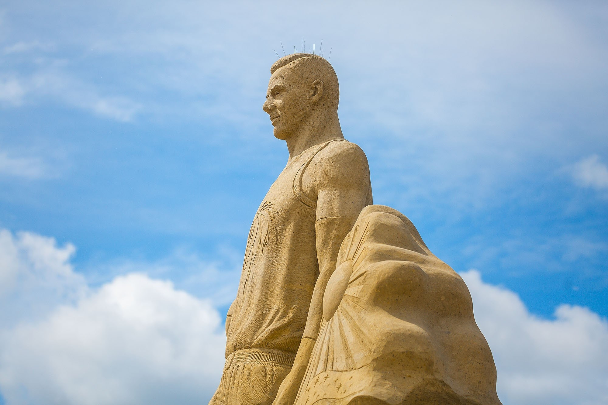 Some of the sand sculptures are ready; the sand park will be open from 19 June